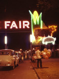 Man Selling Balloons at Entrance of Iowa State Fair