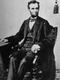 President Abraham Lincoln Sitting in a Chair