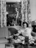 Mrs Gene Autry Pouring Cup of Tea in Cheerful Living Room of the Autry&#39;s Melody Ranch