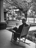 Bank President Robert Allen Willis Rocking on His Porch after His Bank Closed at 3 PM