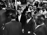 Reverend Martin Luther King Jr with Freedom Riders Boarding Bus for Jackson