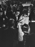 Actress Elizabeth Taylor in Crowd with Eddie Fisher