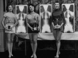 Winning Models Marianne Baba  Lois Conway and Ruth Swensen During a Chiropractor Beauty Contest