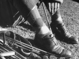 Feet and Golf Clubs Belonging to Golfer Byron Nelson