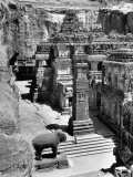 People Walking Through and Admiring the Defined and Detailed Kailasa Temple
