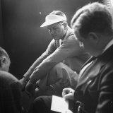 Golfer Byron Nelson Talking to Sportswriters in the Locker Room