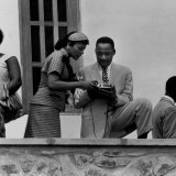 Civil Rights Leader Rev Martin Luther King Jr and Wife Visiting Ghanain Independence Ceremonies