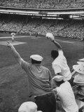 Fans Cheering at Milwaukee Braves Home Stadium During Game with Ny Giants