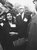 Mrs Martin Luther King Jr with Benjamin Spock Protesting the War in Vietnam