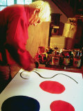 Sculptor Alexander Calder Working on Design for a Mobile at His Home in France