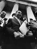 Reverend Martin Luther King Jr Shaking Hands with Crowd at Lincoln Memorial