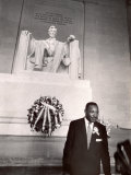 Reverend Martin Luther King Jr at Lincoln Memorial