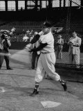 Ted Williams  Player for the Red Sox  Taking Batting Practice