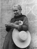 Woman Making Straw Hats by Hand