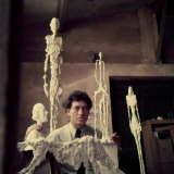 Portrait of Alberto Giacometti in His Studio