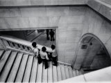 Guards Standing on Staircase During a Lull in Duties During Watergate Hearings