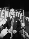 Edward Kennedy During Campaign for Election in Senate Primary