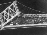 Aerial View of Traffic on the Whitestone Bridge