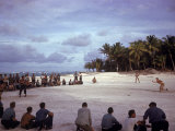 American Troops on Tarawa Playing Softball During WWII
