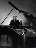Excellent Photgraph of Pianist Josef Hofmann Seated at Piano in His Studio