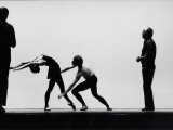 Ballet Master George Balanchine Directing Rehearsal of NYC Ballet Production  Violin Concerto