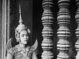 Religious Dancer at Temple of Angkor Wat  Wearing Richly Embroidered and Ornamented Costumes