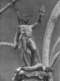 Young Perseus Holding the Decapitated Gorgon Head of Medusa  Standing over Her Body