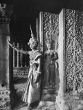 Religious Ritual Dancer in Temple of Angkor Wat  Wearing Richly Embroidered and Ornamented Costumes