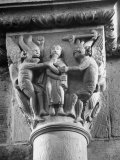 Religious Carvings on Column Capital at Abbey Church