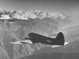 "American C-46 Transport Flying ""The Hump"" a Long  Difficult Flight over the Himalayas"