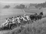 Hayride for Mansfield  Ohio  Senior High School Graduating Class