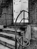 Stair Railing on Building in Moravian Settlement at Old Salem  Probably Home Moravian Church