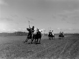 Polo Game in Progress at the Canlubang Sugarcane Plantation