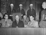 Rudolph Hess  Joachim Von Ribbentrop and Hermann Goering Sitting in the Defendents Box