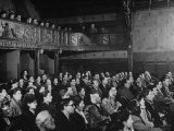 Interior View of Theater  with Audience Watching a Production at the Grand Guignol Theater