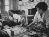 Lord Louis Mountbatten  with Daughter and Grandchildren Playing Monopoly