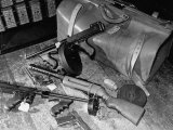 Arsenal of Machine Guns  Pistols  Shotguns Etc- Belongs to Recently Captured Frank Dailey and Gang