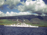 American Warships Off the Coast of Hawaii During the Us Navy's Pacific Fleet Maneuvers
