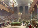 Illustration Showing Interior of Great Britain&#39;s House of Commons While in Session