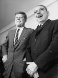 Pres John F Kennedy with Luis Munoz Marin  Governor of Puerto Rico