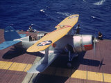 Scout Plane Preparing for Carrier Launch During Us Navy Manuevers Off the Hawaiian Islands