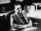 Fbi Chief J Edgar Hoover  Sitting in His Office