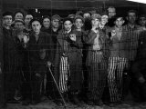 Prisoners at the Gates of the Buchenwald Concentration Camp Near the End of WWII