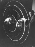 Scientist Alexander Simkovich Working on a Us Artificial Satellite