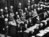 Courtroom Scene During the Nuremberg Trials for Nazi War Criminals
