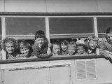 Packed School Bus in Detroit  First Graders Happily Stuck their Heads Out of its Windows