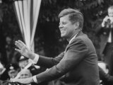 President John F Kennedy  Waving at Crowd During Speech