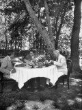 W Averell Harriman and Henry Grady Having Lunch with Shah Reza Pahlevi