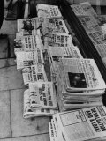 Newspaper Headlines Telling of Devaluation of British Pound