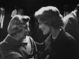 Actress June Allyson with Pat Nixon on Eve of the California Elections